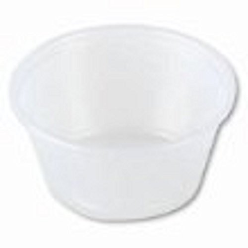 (SOLO B200N-0100 Polystyrene Souffle Portion Cup, 2 oz. Capacity, Translucent (Case of 2,500) by Solo Foodservice)