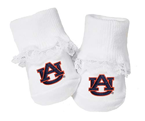 Future Tailgater Auburn Tigers Baby Toe Booties with Lace