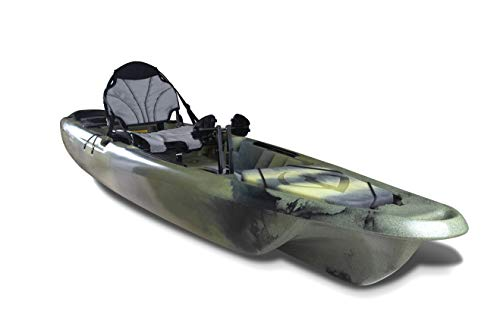 Lightning Kayaks Strike HD Camo Made in USA Pedal Drive Kayak 12'6″ Adjustable Comfort seat with transducer Port and Rod Holders and Large Storage and Integrated Retractable Rudder