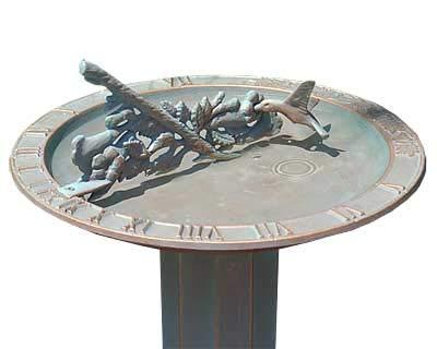 - BestNest Whitehall Hummingbird Sundial Bird Bath & Roman Pedestal Kit