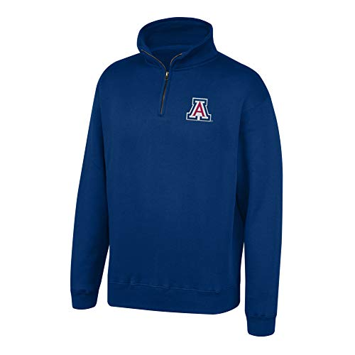 (Top of the World NCAA Men's Arizona Wildcats Team Color Classic Quarter Zip Pullover Navy X Large)