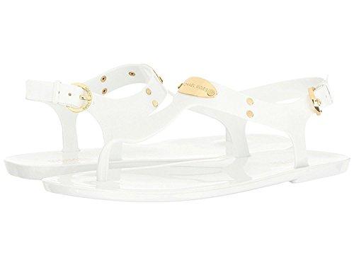 Michael Michael Kors Women's Plate Jelly Sandal Optic White Gold (6 M US)