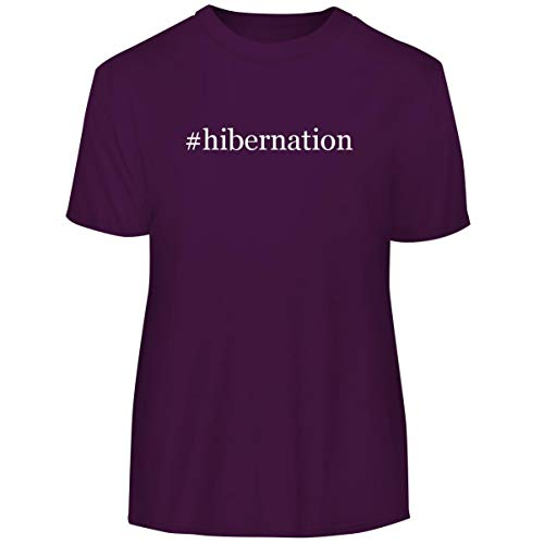 #Hibernation - Hashtag Men's Funny Soft Adult Tee T-Shirt, Purple, X-Large