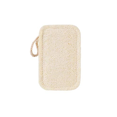 Natural Loofah Kitchen Sponge Pack of 1 Loofah Bath Cellulose Scouring Pad Scrubber Shower 100% Biodegradable and Compostable Loofah Plant