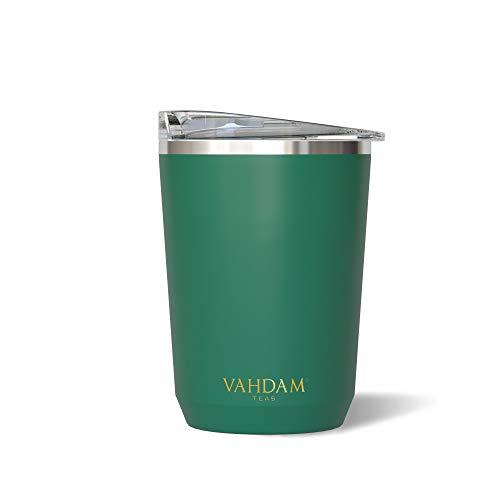 VAHDAM Ardour, Vaso Termico de Acero Inoxidable (350ml) | Taza de Viaje Verde | Termo Reutilizable a Prueba de Fugas, Apto para Bebidas Frias/Calientes | Taza para Te/Cafe ECOLOGICA Y SOSTENIBLE