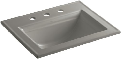 (KOHLER K-2337-8-K4 Memoirs Self-Rimming Bathroom Sink with Stately Design, Cashmere)