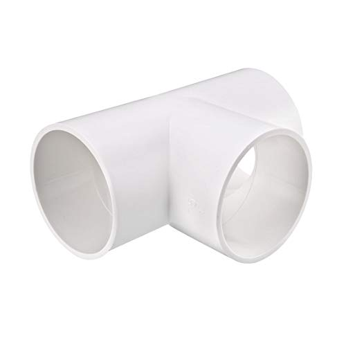 - uxcell 75mm Slip Tee PVC Pipe Fitting T-Shaped Coupling Connector