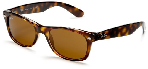 Ray-Ban NEW WAYFARER - YELLOW/BROWN TORTOISE Frame CRYSTAL BROWN Lenses 52mm - Brown Ban Ray New Wayfarer