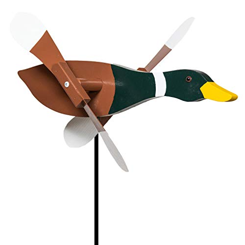 (Mallard Duck Whirligig / Whirly Bird Garden Spinner)