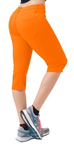 Orange Bermuda - HyBrid & Company Super Comfy Stretch Bermuda Shorts Q43308 Orange 5