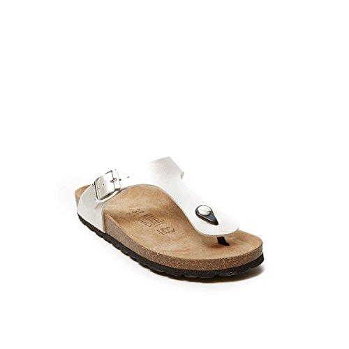 Mandèl Women's SANDALO Fashion Sandals White Bianco Wsa7oqZwK