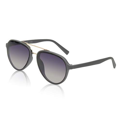 Women's Aviator Sunglasses Woman Womens Big Gold Metal Double Bridge 70s Grey