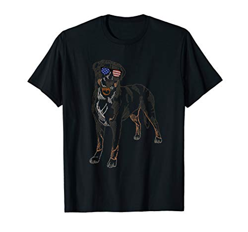 Greater Swiss Mountain Dog in glasses Tee T Shirt Tshirt T-Shirt