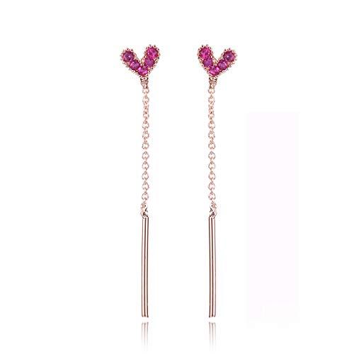 LOSOUL Colorful Tassel Earrings Thread Bohemian Tassel Dangle Drop 925 Sterling Silver Jewelry for Women Gifts (Sterling Ring Bulldog Silver)