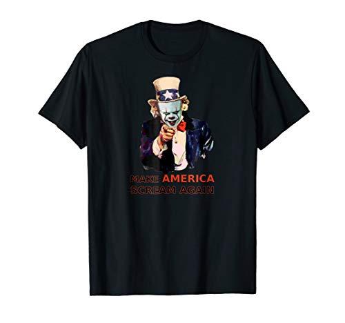 Scary Killer Clown Shirt Creepy Evil Halloween Party Costume