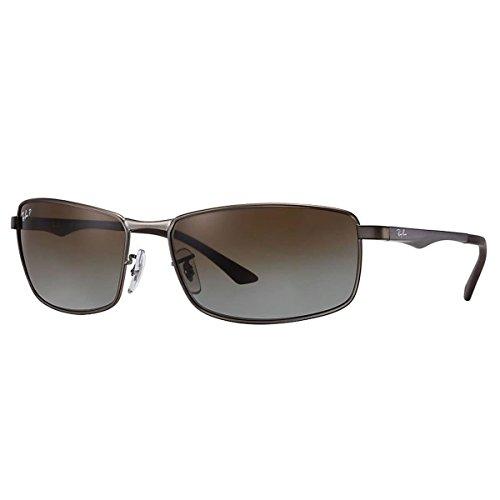 Ray-Ban Sunglasses Gunmetal Matte/Grey Metal - Polarized - - Ray Ban 3498