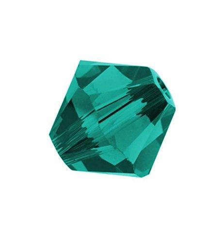 (100pcs Genuine Preciosa Bicone Crystal Beads 4mm Blue Zircon Alternatives For Swarovski #5301/5328 #preb430)