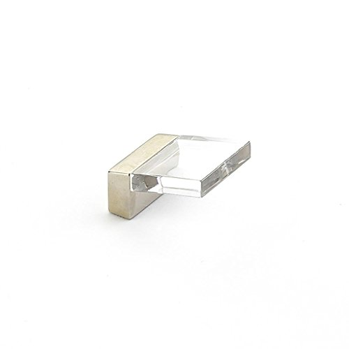 Schaub Positano Collection 5/8 in. (16mm) Pull, Satin Nickel - Clear - 319-15 CL