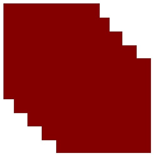 Siser EasyWeed Heat Transfer Vinyl HTV for T-Shirts 12 x 12 Inches 5 Precut Sheets (Cardinal Red)