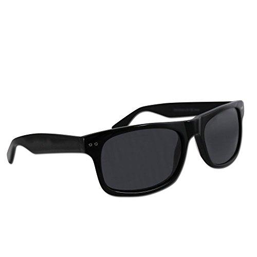 ~ BUY ONE, GET ONE 75% OFF~ Premium Polarized Wayfarers from Eye Love, 100% UV Blocking, Durable, Lightweight (Premium Black, Gray)