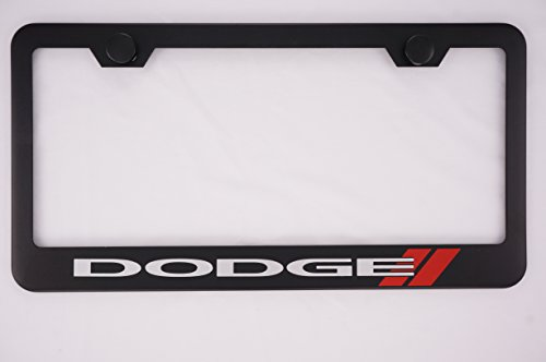 Dodge Black License Plate Frame with (Dodge Charger Accessories)