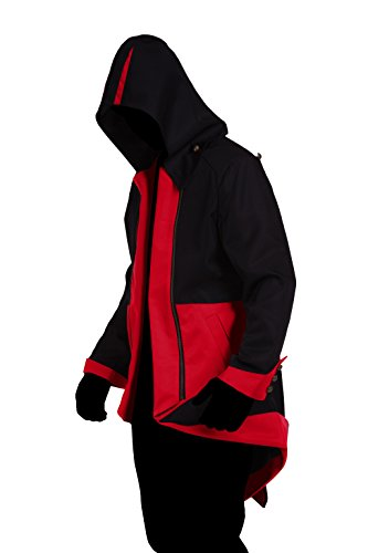 Red Assassin Costume (iFigure Cosplay Costume Hoodie Jacket for Adult and Child Black & red)