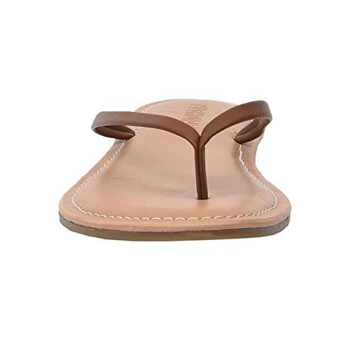 CUSHIONAIRE Women's Cora Flat Flip Flop Sandal with +Comfort