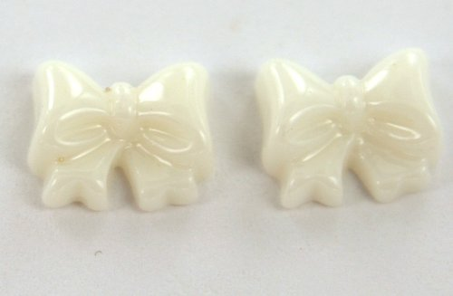 Zink Color Nail Art Jumbo White Bow 2Pc Cell Phone ()