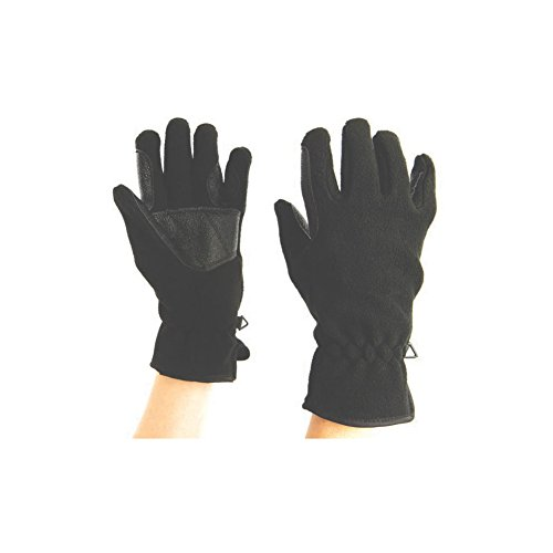 Dublin Good Hands Easy Care Fleece Waterproof Riding Gloves - Black, Extra Large ()