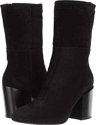 Aquatalia Women's FABRIANA Suede Ankle Boot, Black, 7.5 M US