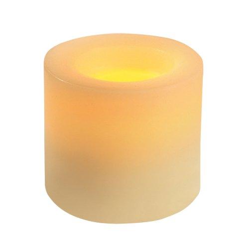 Inglow CGT54300CR01 Flameless Round Pillar Vanilla Scente...