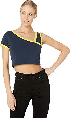 Juicy Couture Women's Logo Cut Out Crop Top Regal Small - Crop Logo