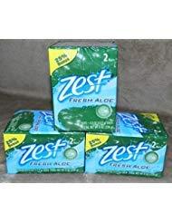 (Zest Fresh Aloe, 6 (Six) 4oz Bars)