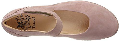 Think! Women's Kapsl_282061 Ankle Strap Ballet Flats, Pink (Rosa/Kombi 33), 8.5 UK Pink (Rosa/Kombi 33)