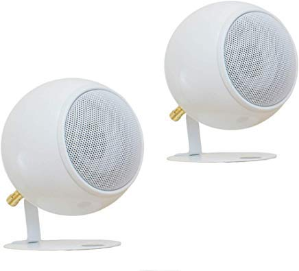 Orb Audio: Mod1 Round Stereo & TV Speakers - Two Pack - Compact Stereo Speakers - True Audiophile Reproduction - Easy to Hide - Ability To Upgrade Anytime