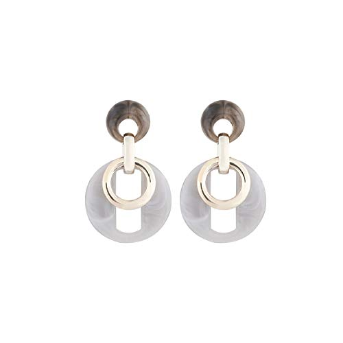 New Square Acrylic Drop Trendy Dangle Earrings For Women Statement Jewelry Party ()