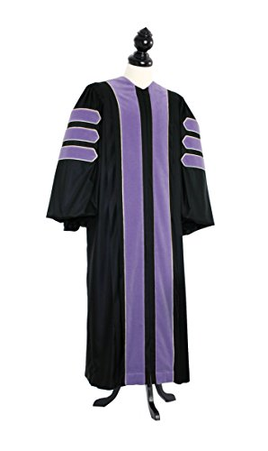 TIMELESS Women Deluxe Doctoral of Law Academic Gown for faculty and Ph.D. gold silk Custom Size Black by TIMELESS - bespoken
