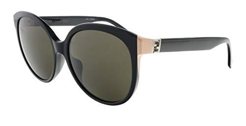 Fendi FF0144/F/S 029A Shiny Black Cateye Sunglasses for Womens