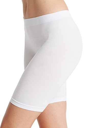 - NEOSAN Women's Seamless Slipshorts Smooth Panties White L