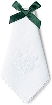 Charles Gallen Ladies Handkerchief with Embroidered Shamrock design