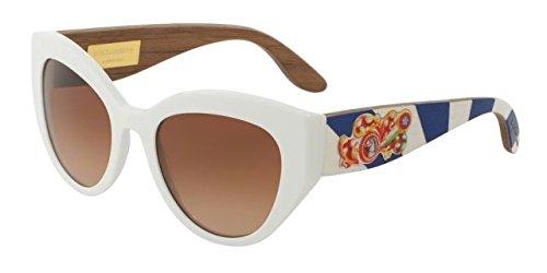 Dolce & Gabbana Women's 0dg4278 Cateye Sunglasses, White, 52 - Dolce White Gabbana And Glasses