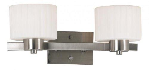 Kenroy Home 80412BS Legacy 2 Light Vanity White Fluted ()