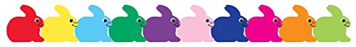 Hygloss Products Bunnies Die-Cut Bulletin Board Border - Classroom Decoration - 3 x 36 Inch, 12 Pack -