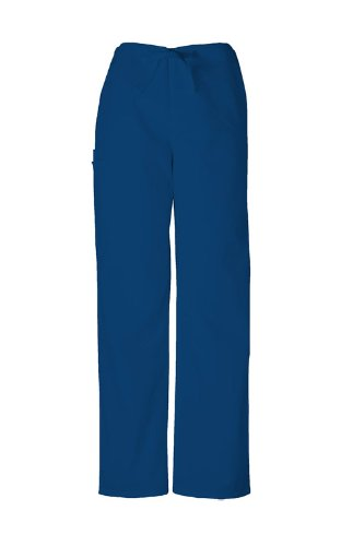 (Cherokee Workwear Unisex Drawstring Scrub Pant (Navy, XL-Short))