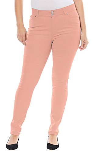 Jessica London Women's Plus Size Tummy-Control Skinny Jeans - Vintage Coral, 18