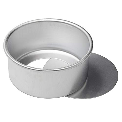 Dealglad 6 Inch X 3 Inch Anodized Aluminum Round Cheesecake Pan Chiffon Cake Mold Baking Mould with Removable Bottom ()