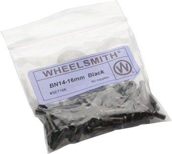 (Wheelsmith 2.0 x 16mm Black Brass Nipples, Bag of 50)