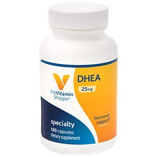 The Vitamin Shoppe DHEA 25MG, Hormonal and Healthy Aging Support for Both Men Women, Once Daily (120 Capsules)