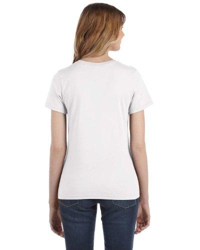 Bianco Anvil Ringspun Cotton T Fit Fashion Womens shirt 07w0qPTp