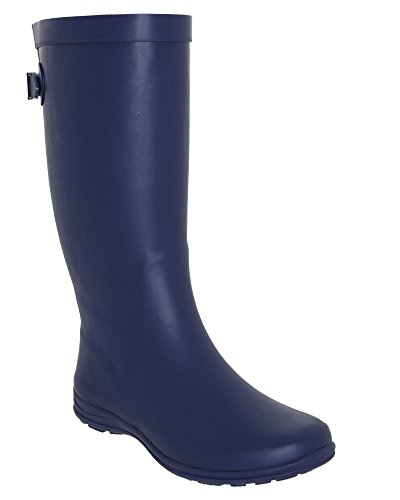 Matte with Navy Tall Rain Boot Back Gusset LA Gear Combo Solid PApqU1x5w